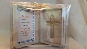 Details Zu Geschenk Zur Geburt Taufe Konfirmation Personalisierbar Glaskreuz Kreuz In Buch