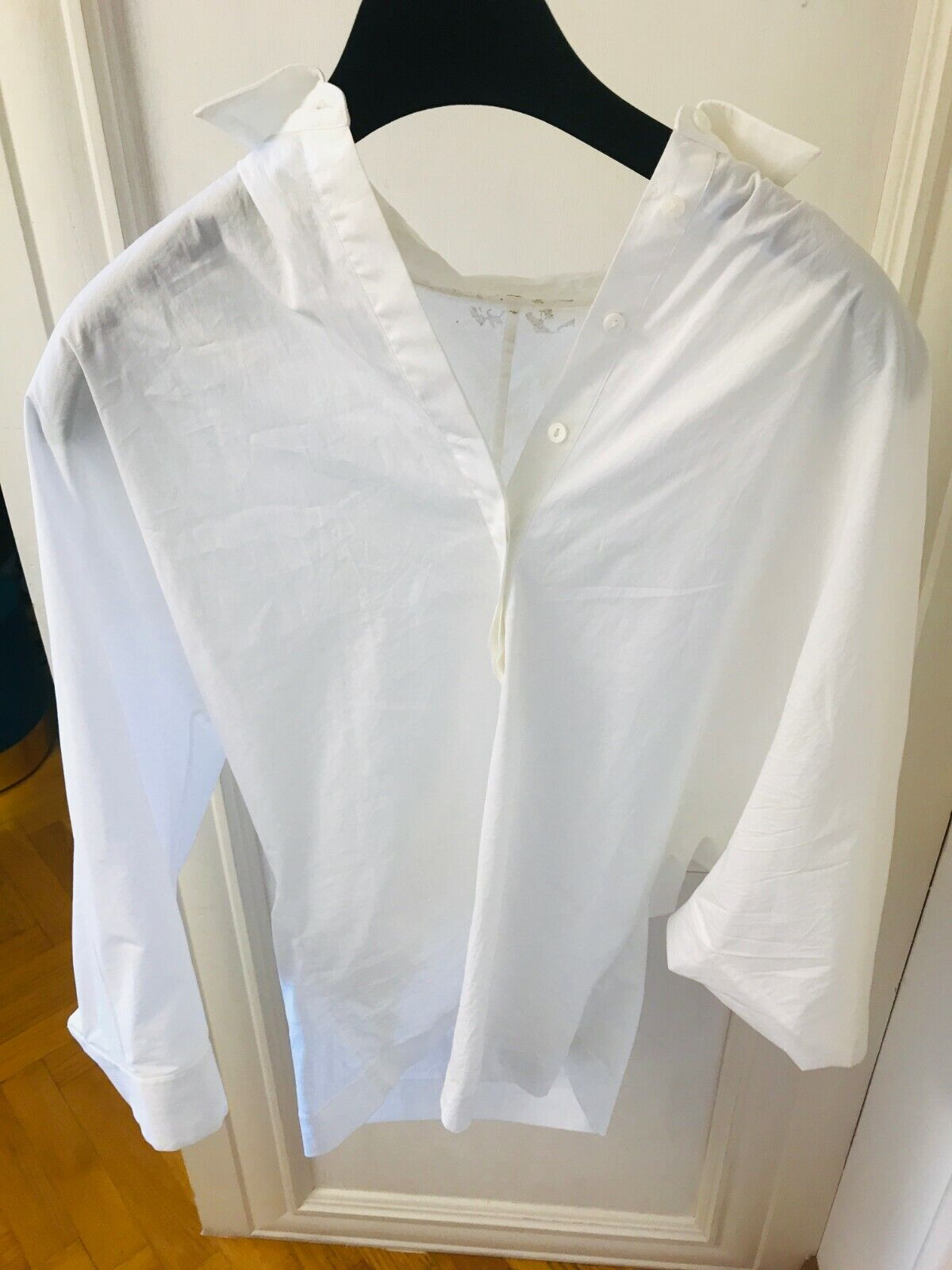 Authentique Max Mara Femme Popeline Chemisier overTaille shirt I 40 UK 8 NETAPORTER