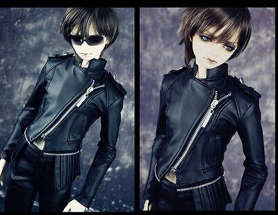 1/3 bjd doll outfit Soom Mega Gem SID biker jacket & leather pants set ship US