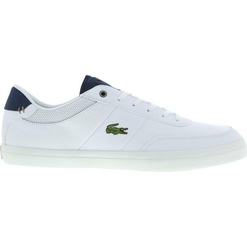 Lacoste Court Master 4171FLE Cam Mens Trainer Leather Shoes - White