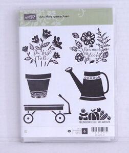 """Stampin' Up! Stempelset """"Ans Herz gewachsen"""" für Acrylblöcke NEU Garten Blumen"""