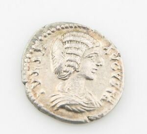 198-AD-Imperial-Roman-Denarius-Silver-Coin-XF-Julia-Domna-Laodicea-Extra-Fine