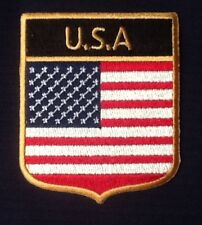 USA US UNITED STATES AMERICA AMERICAN COUNTRY FLAG BADGE IRON SEW ON PATCH CREST