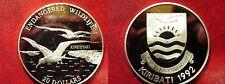 1992 Kiribati Large Silver Proof $20 Frigate Birds
