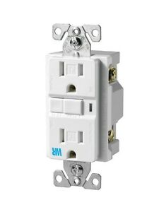 Cooper-Wiring-Devices-125-Volt-15-Amp-White-Decorator-GFCI-Electrical-Outlet