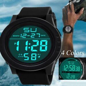 Fashion-Men-LED-Digital-Date-Alarm-Waterproof-Sport-Military-Rubber-Quartz-Watch