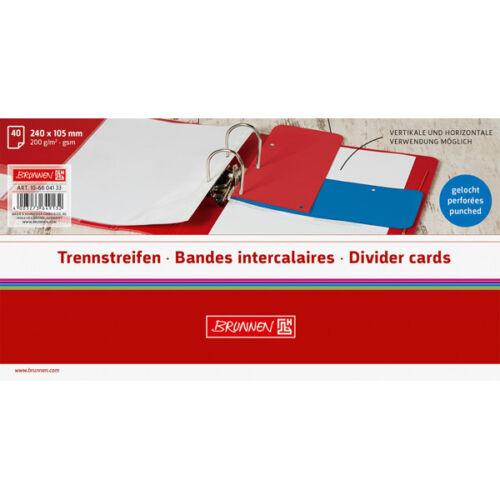Trennstreifen BRUNNEN Colour Code 10-6604133-BR 240 x 105 mm Azur Karton Teildec