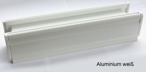 Alu-Briefeinwurf-m.Schacht-Nr.3-365 x 80 mm-Briefkasten-Briefschlitz-Briefklappe