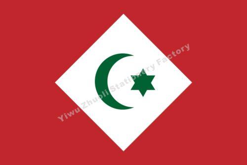 Maroc République du Rif Drapeau 3X2FT 5X3FT 6X4FT 8X5FT 10X6FT 100D Polyester