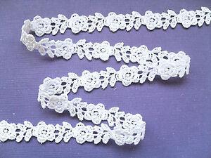 13-7-m-White-Rose-Guipure-Venise-Lace-Trim-1-5-cm-Card-Trim-Craft