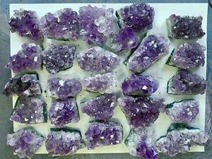 2-3-034-Amethyst-Crystal-Clusters-Druzy-Geode-Rough-SET-of-4