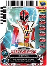 POWER RANGERS CARD GUARDIANS OF JUSTICE :Red Super Samurai Ranger 093 X 4