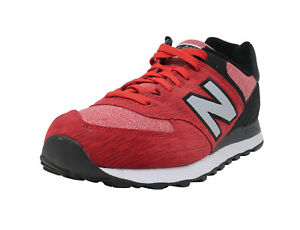 New Balance Shoes Mens Athletic Red black White 574 Running Sneaker ... ee7f87bb5c3