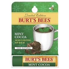 BURT'S BEES BEESWAX • MINT COCOA LIP BALM SALVE Tube • New LTD EDITION FLAVOUR