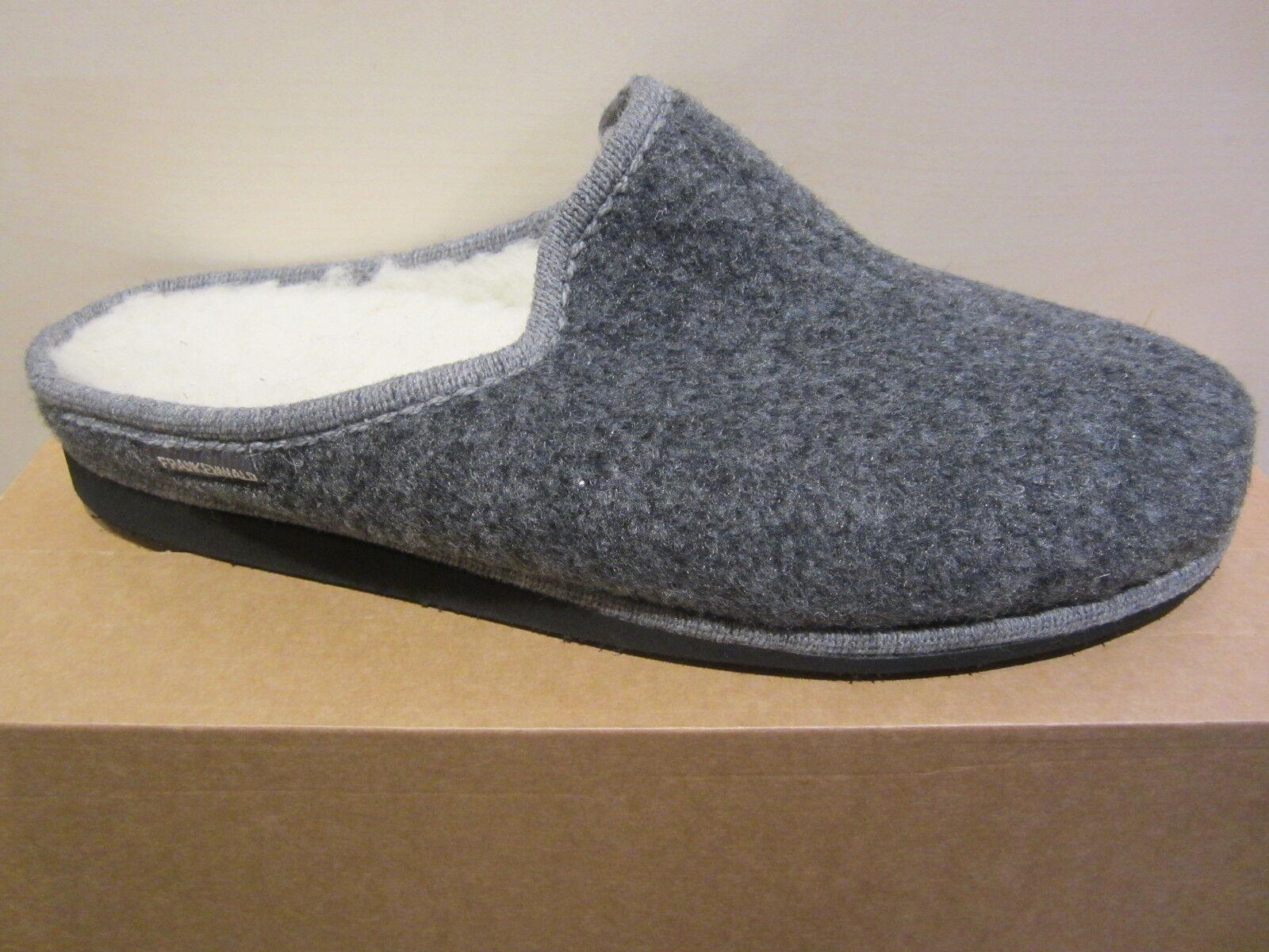 Frankenwald Men's  Slipper, Real Felt, Virgin Wool Lining, grigio, Footled New  liquidazione