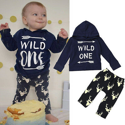2PCS Toddler Baby Boy Kid Casual Cartoon Splice Long Sleeve Top Pants Outfit Set