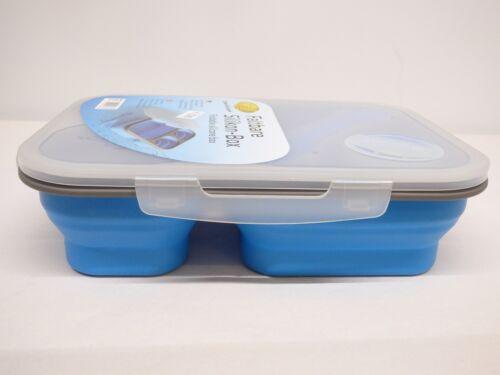 Boîtier plat silikonbox Boîte de rangement avec des couverts association dans le couvercle intégrés