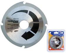 """Toolpak 115 Mm 4-1/2 """"Madera, Mdf, Plástico, Fibra De Vidrio, Amoladora Angular blade/disc, blx115"""