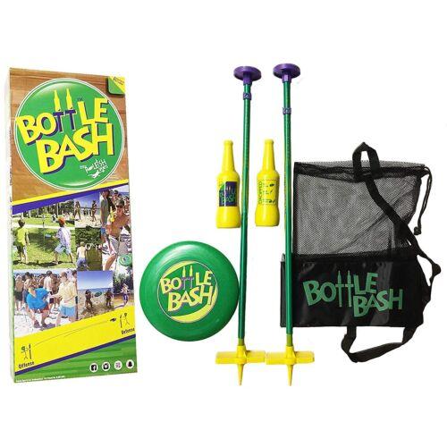 Bottle Bash Disc Toss Game Set Back Yard Beach Fun Kids Out Door Catch Game Bag