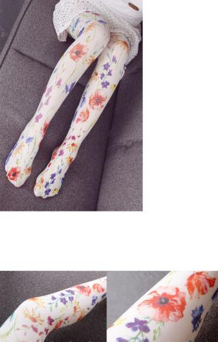 Cute girl sakura Printing Lolita velvet Tights Pantyhose cosplay 80D WZ101