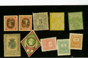 Germany-Early-Stamps-Scarce-Group-of-10-Different-Essays-All-Mint