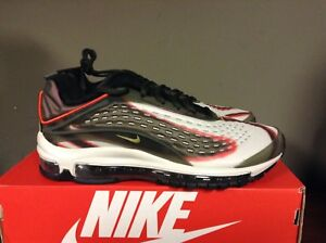 5358796feb NIKE AIR MAX DELUXE SEQUOIA/CAMPER GREEN-TEAM ORANGE-BLACK AJ7831 ...