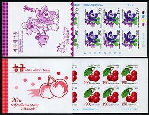 Korea-Sued-2003-Pflanzen-Apfel-Akelei-2358-2359-Markenhefte-Stamp-Booklets-MNH