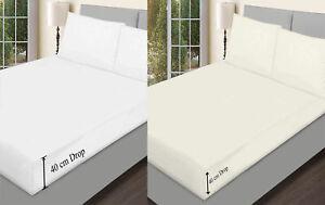 2-Pack-Extra-Profundo-Sabana-Ajustable-Sabanas-para-Cama-Para-Dormitorio-unico-4Ft-doble-King-Size