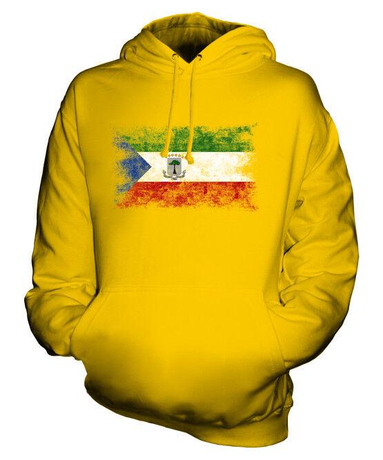 EQUATORIAL GUINEA DISTRESSED FLAG UNISEX HOODIE EQUATOGUINEAN GUINEAN