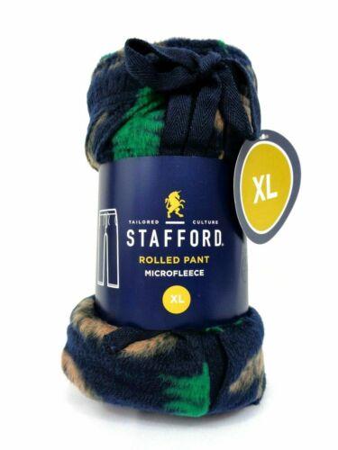 NEW Mens STAFFORD ROLLED Microfleece Soft Pajama Pants Navy//Green//Bear FREE SHIP