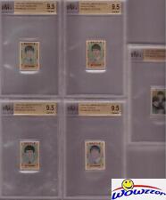 1964 Hallmark BEATLES Complete Stamps Set all BGS 9.5-McCartney,Lennon,Harrison+
