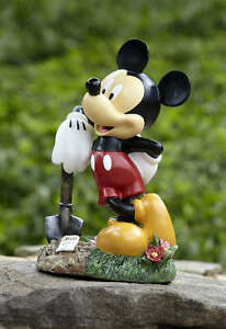 Disney Mickey Mouse With Shovel Garden Lawn Ornament