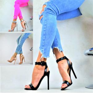 SEXY PUMPS ELEGANT Stilettos METALLIC Sandalen Damenschuhe Party High Heels