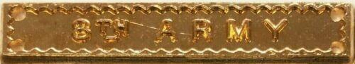 "WW2 Medal Ribbon 8th Army  /""Replica/"" Clasp"