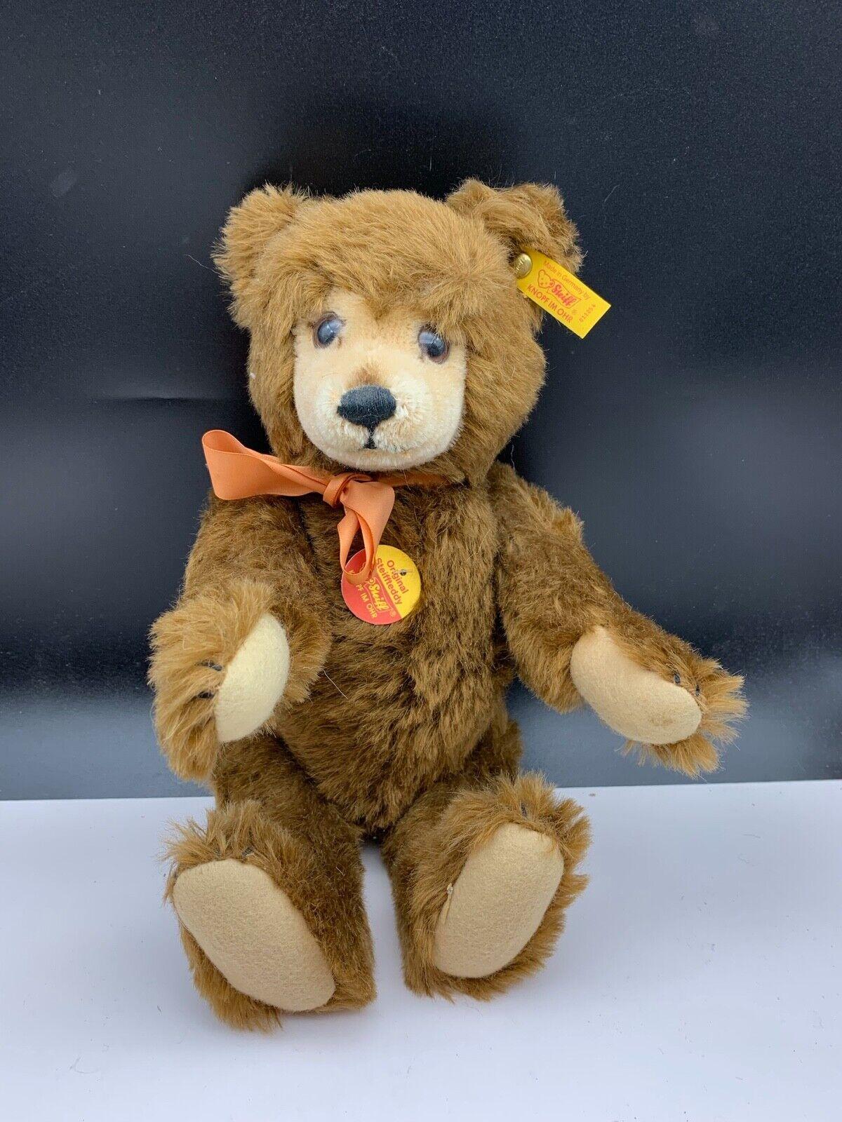 Steiff Animal 011054 Teddy Bear marrón 36 Cm. Top Condition