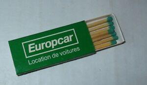 EUROPCAR-LOCATION-DE-VOITURES-BOITE-ALLUMETTES-PUBLICITAIRE