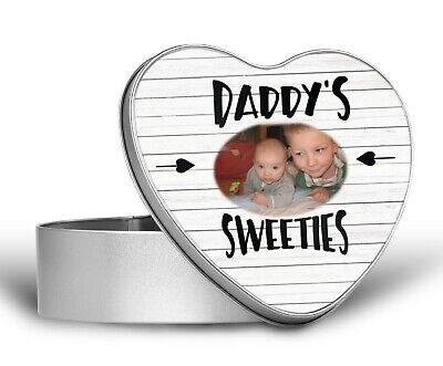 Daddy Metal Sweet Tin Grandad Uncle Mum Photo Gift Personalised Bits /& Bobs