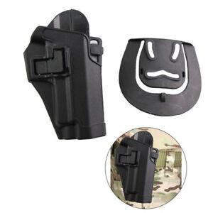 Taktische-Rechte-Hand-Taille-Paddle-Guertel-Holster-Fuer-M9-M92-96-Schwarz-Poly-Sq