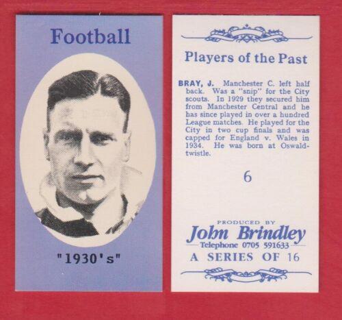 Les joueurs du passé John Brindley football carte variantes