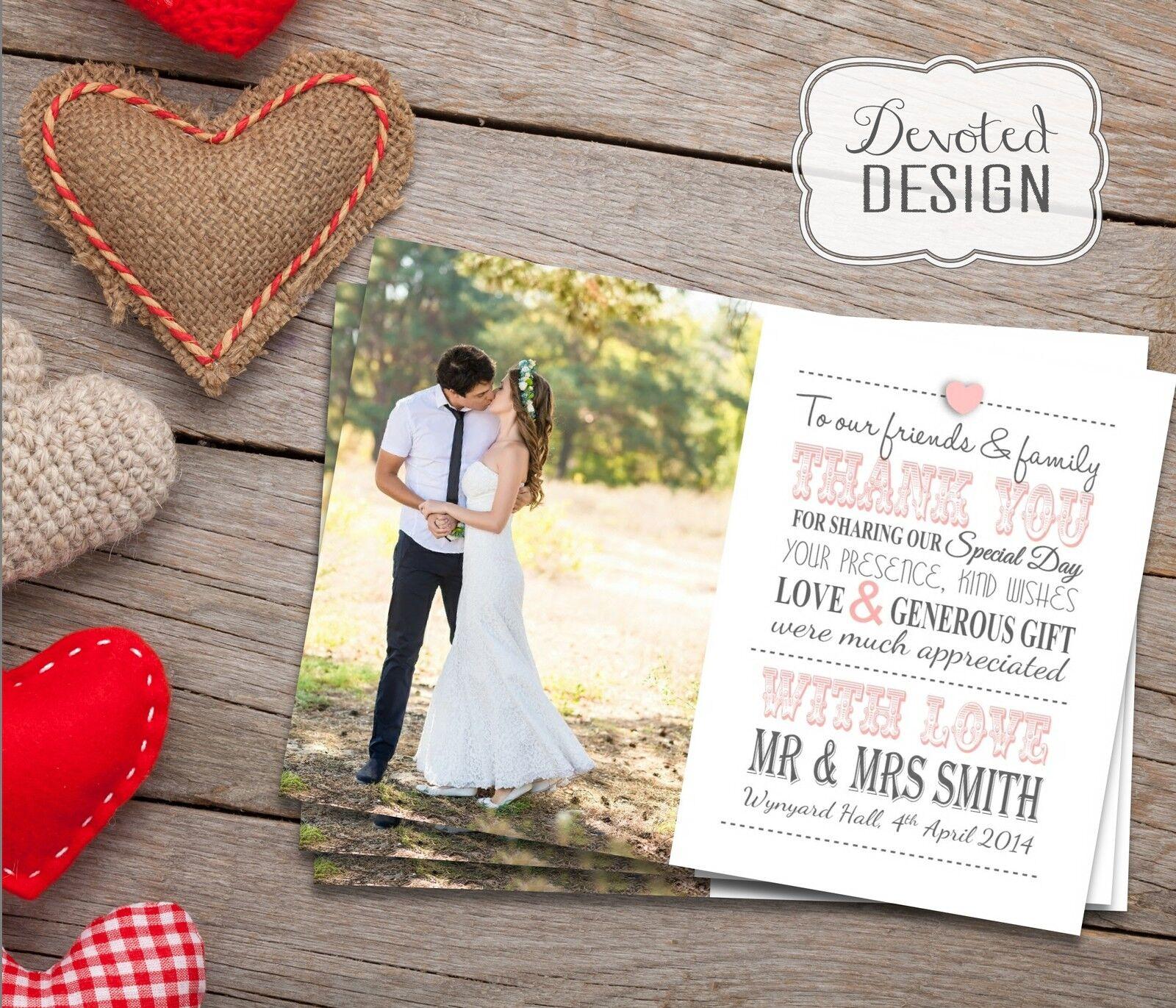 PREMIO Matrimonio Personalizzati Ringraziamenti Inc. BUSTE + + + foto 7ca921