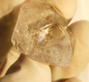 47ct Natural DT Terminated Himalayan Herkimer Diamond Quartz Rainbow, US Seller