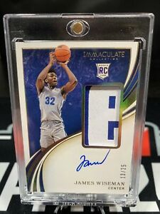 James Wiseman Immaculate 2020 Gold Rookie Patch Autograph RPA 13/25 Rare! 🔥🔥🔥