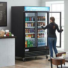 Commercial 2 Glass Door Merchandiser Refrigerator 32x53x84 Display Cooler Etl