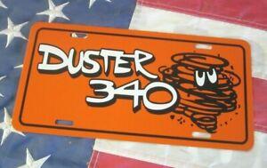 Orange Plymouth DUSTER 340 license plate car tag 1970 1971 1972 1973 Mopar