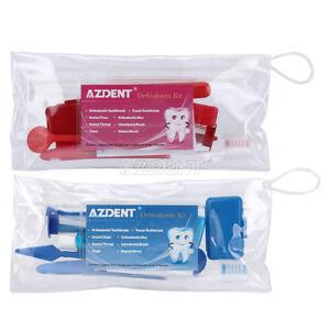 Dental-Orthodontic-Brush-Ties-Toothbrush-brush-Floss-Kit-Oral-Care-AZDENT
