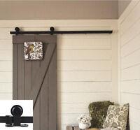 6ft Barn Sliding Wood Door Hardware Steel Slide Rail Antique Track Set Black