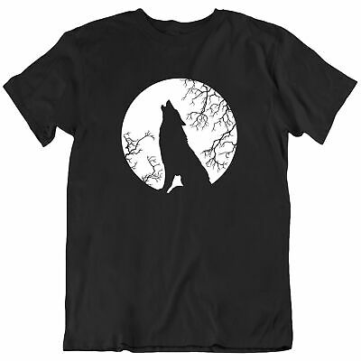 Glow In The Dark Howling Wolf Full Moon Toddler T-Shirt