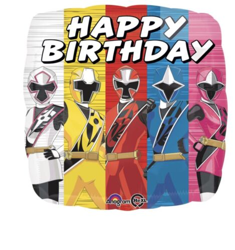 Power Rangers 18 Anagram Balloon Birthday Party Decorations
