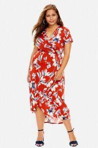 Details about Fashion to Figure Women\'s Plus Size Meadow Print Hi-Lo Maxi  Dress, Size 2X