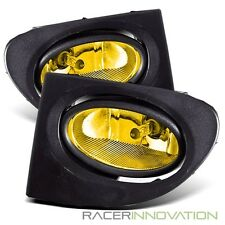 For 02-05 Honda Civic Si EP3 Yellow Fog Lights Driving Bumper Lamps w/ Switch